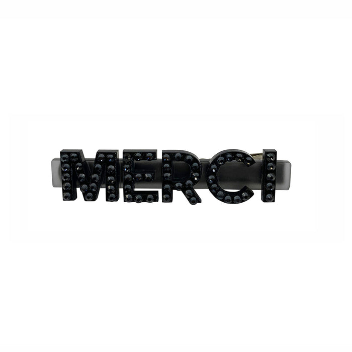 Merci Swarovski Hair Clips in Black