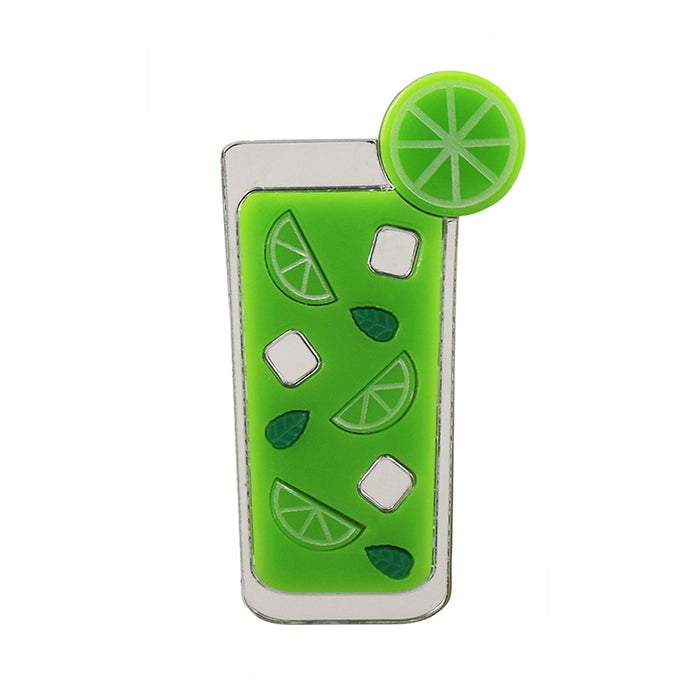 Mojito Cocktail Brooch