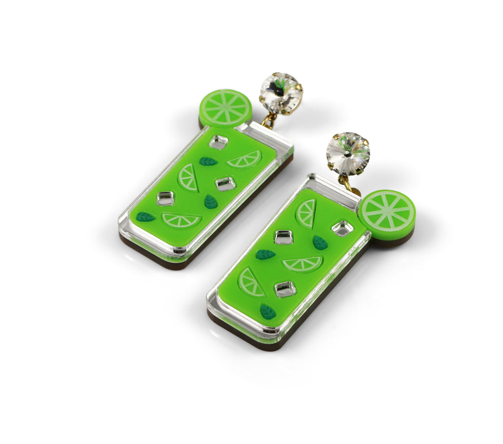 Mojito Cocktail Earrings