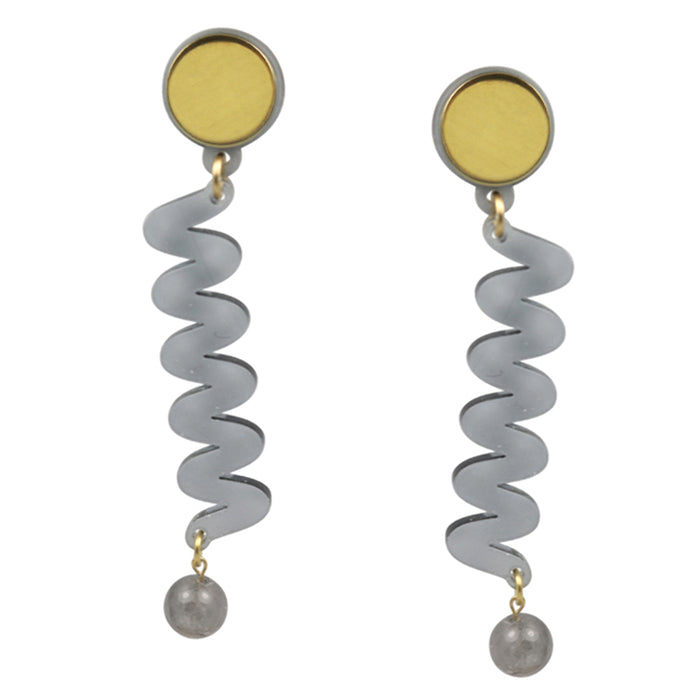 Moray Earrings in Smoked Grey