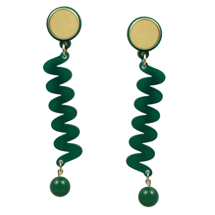 Moray Earrings in Green