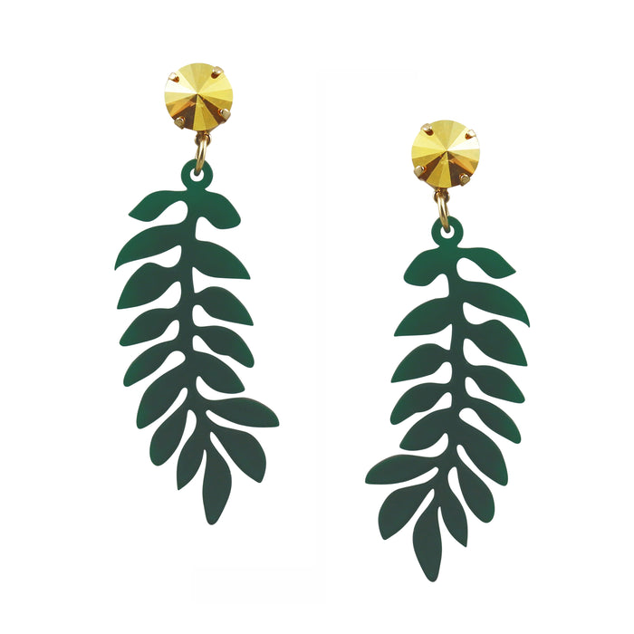 Olive Leaf Earrings