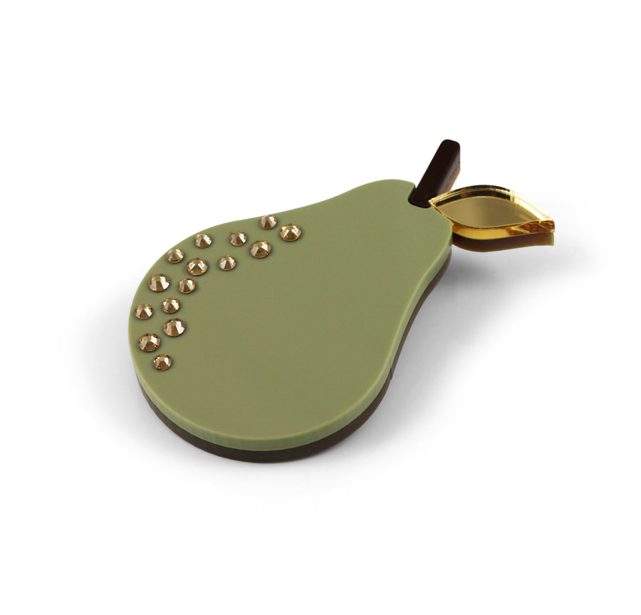 Pear Brooch