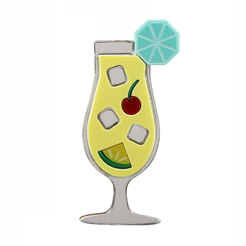 Jennifer Loiselle pina colada cocktail brooch