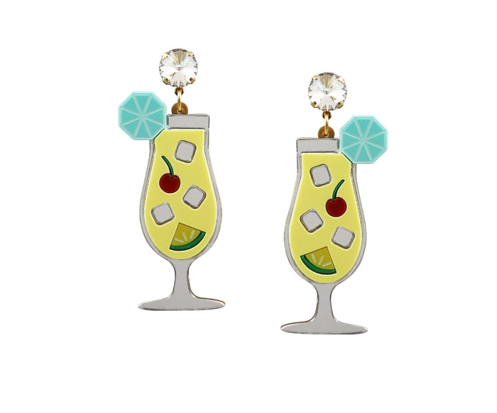 Pina Colada Cocktail Earrings