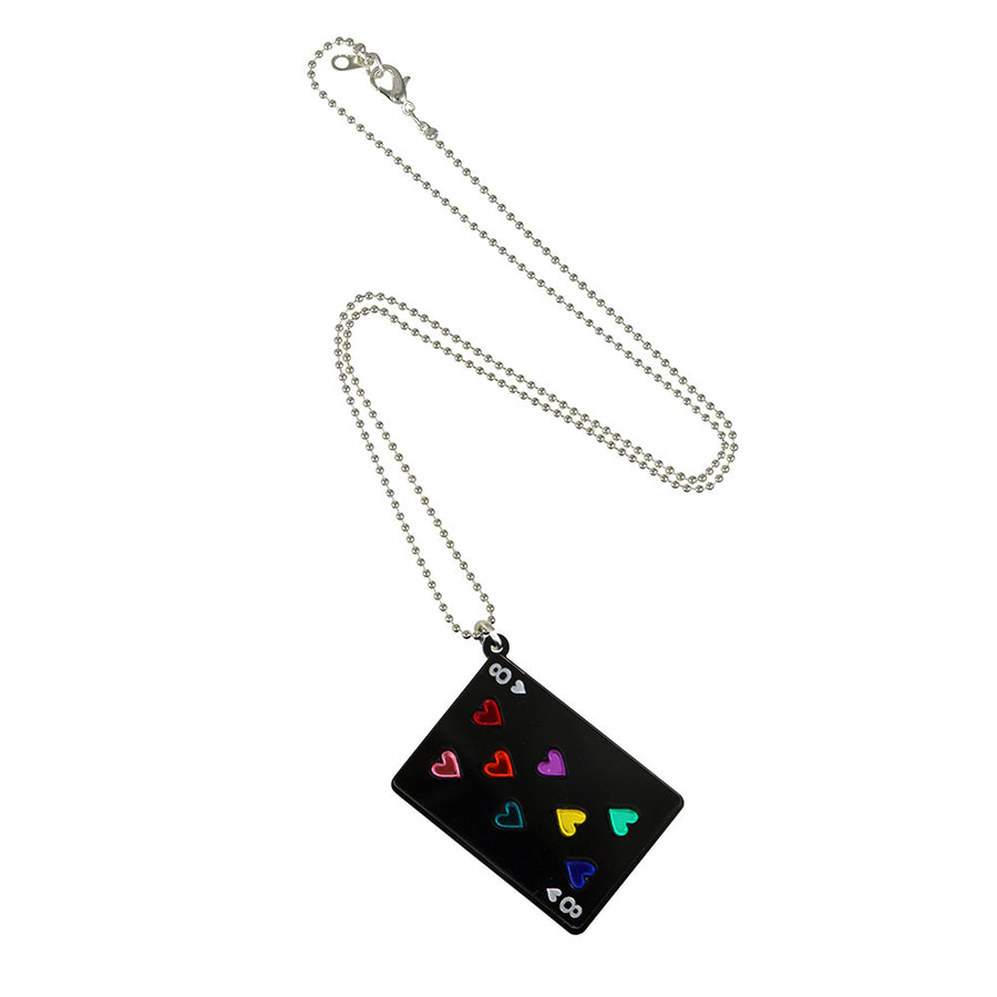 Play Your Cards Right Pendant in black