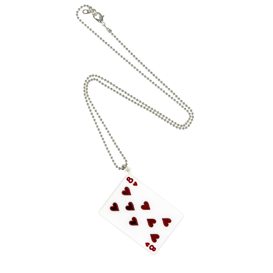 Play Your Cards Right Pendant in white