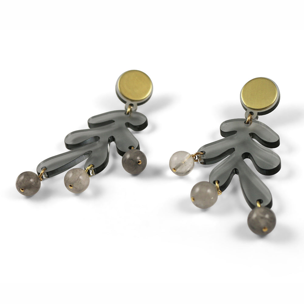 Sargasso Earrings in Smoked Grey