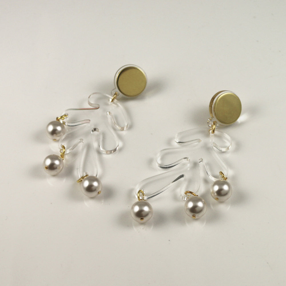 Sargasso Earrings in Clear