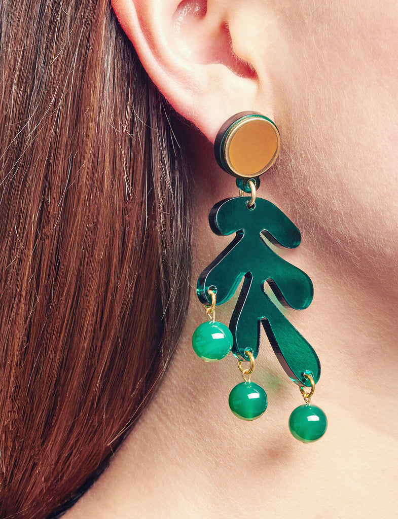 Sargasso Earrings in Green