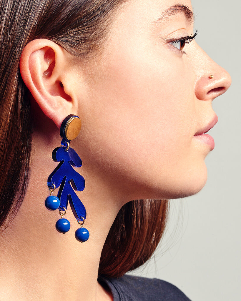 Sargasso Earrings in Marine Blue