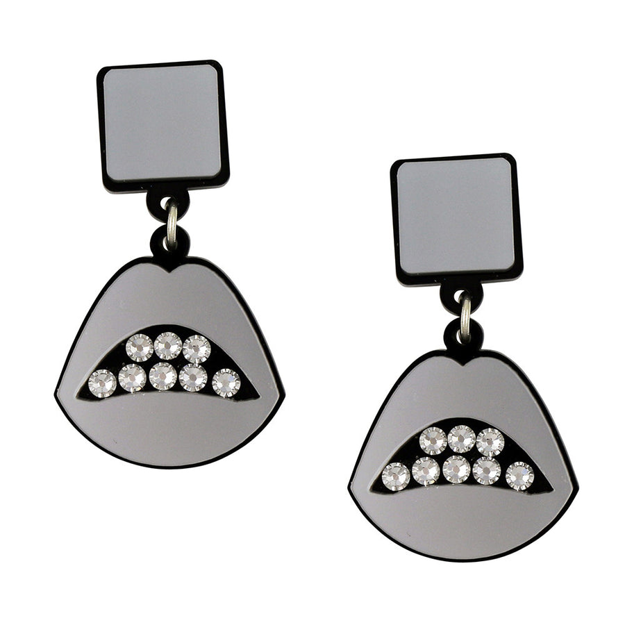 Jennifer Loiselle laser cut acrylic lips earrings