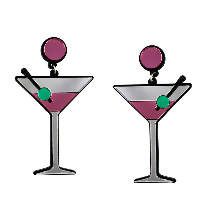 Shaken Not Stirred Martini Earrings