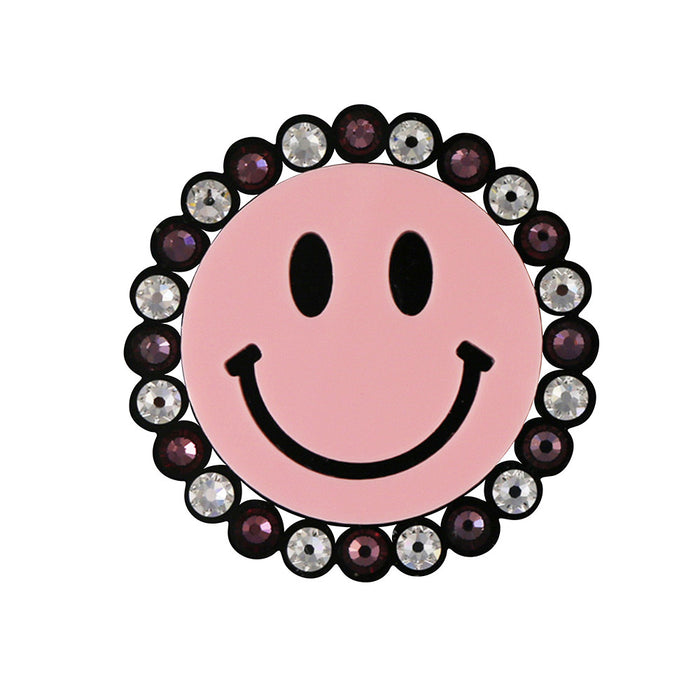 Smiley Brooch in pink