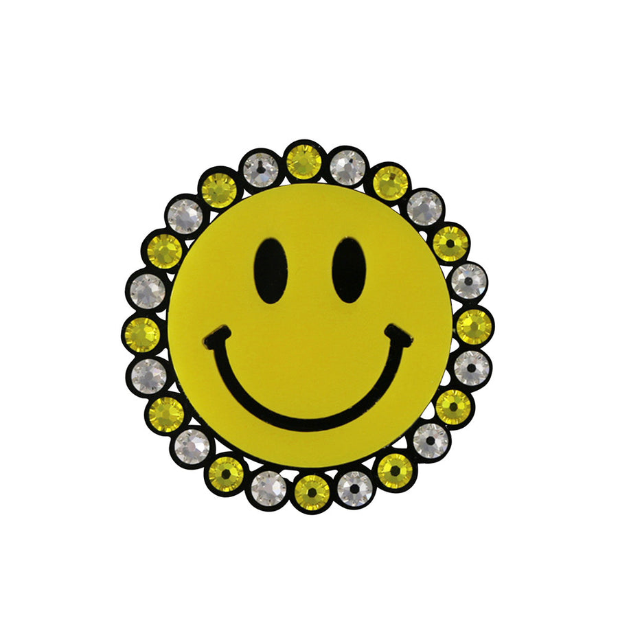Jennifer Loiselle Smiley Face statement brooch
