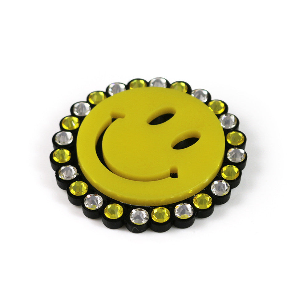 Smiley Brooch in yellow