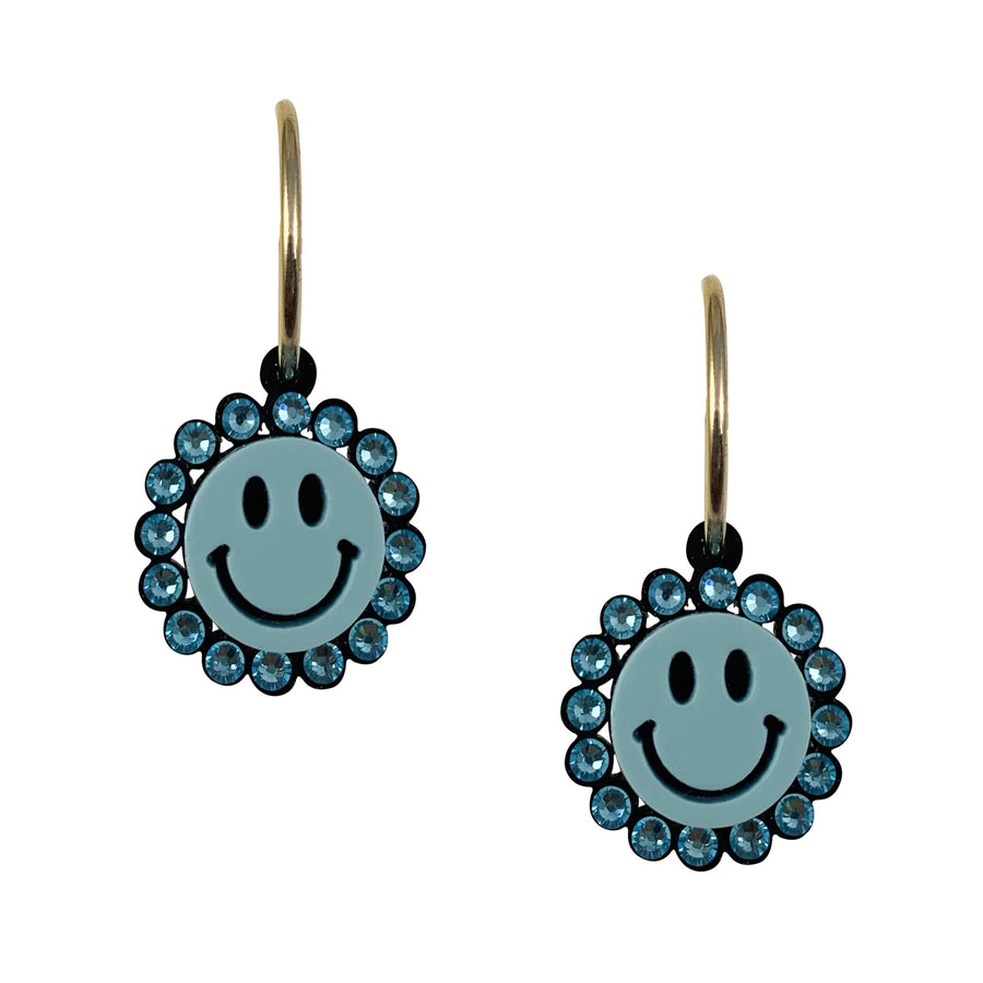 Jennifer Loiselle Smiley Face Hoop Earrings
