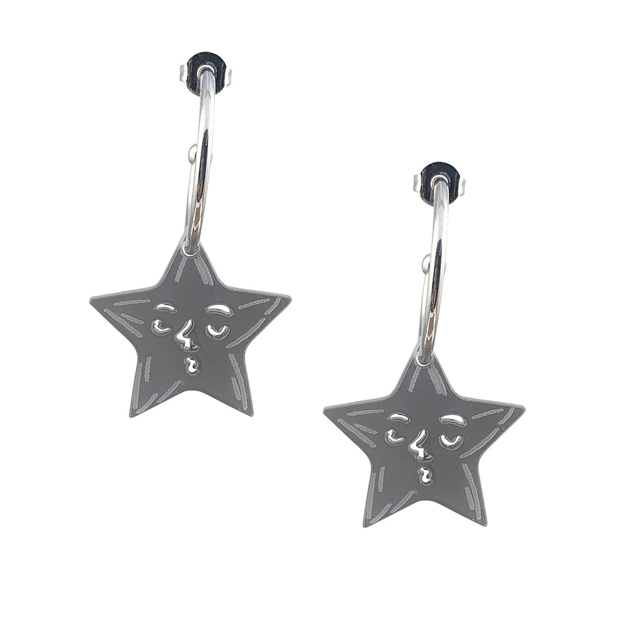 Jennifer Loiselle laser cut acrylic Star earrings