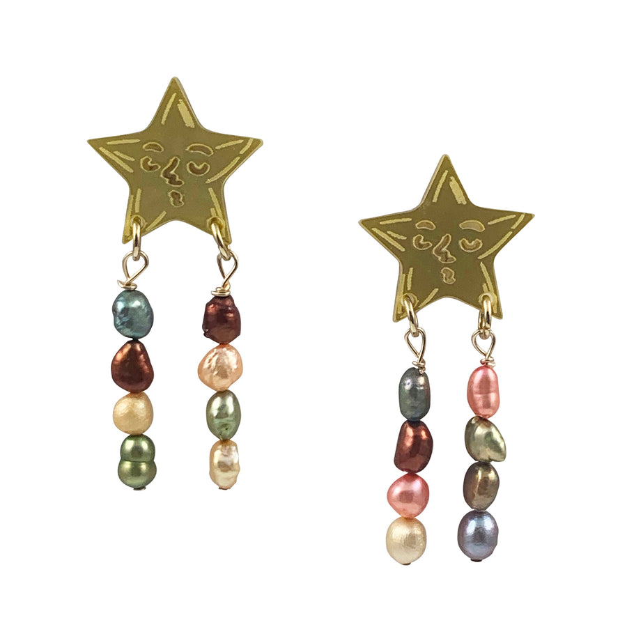 Jennifer Loiselle Star Pearl Earrings  Edit alt text