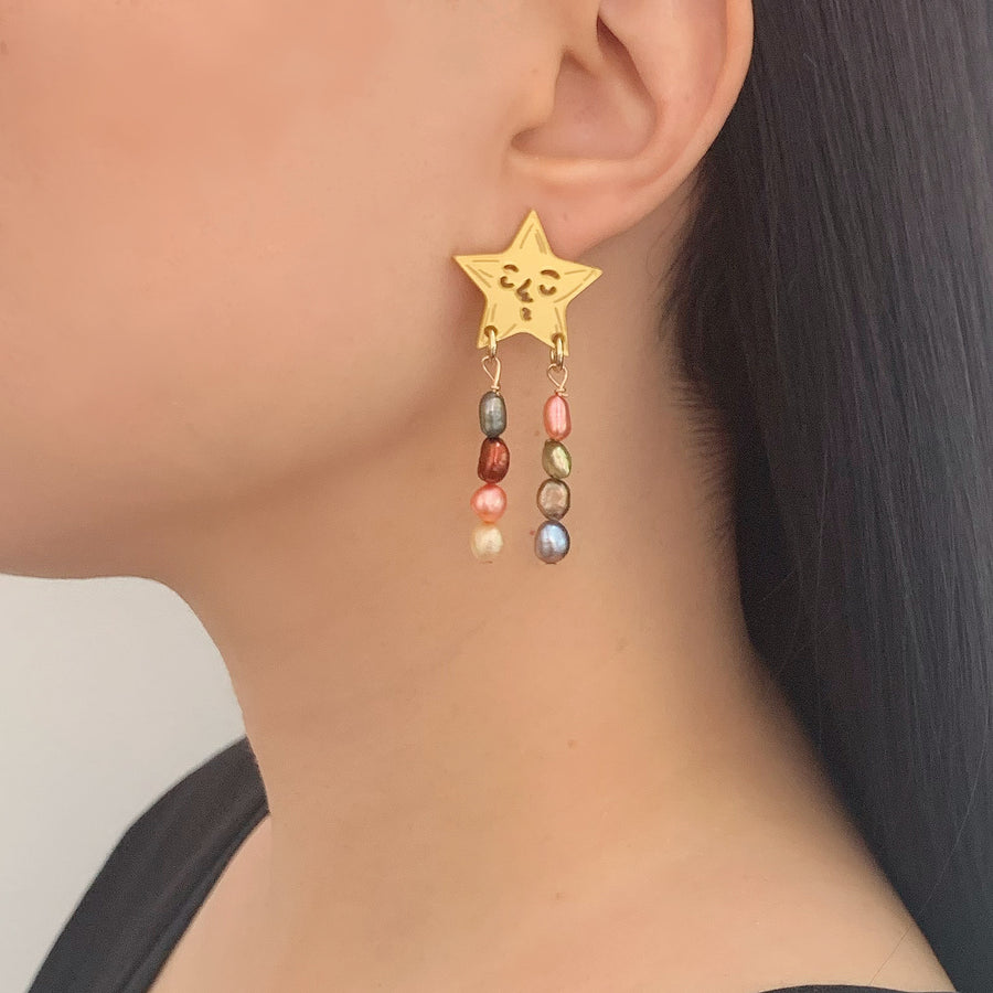 Jennifer Loiselle Star Pearl earrings