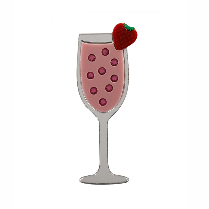 Strawberry Mimosa Cocktail Brooch