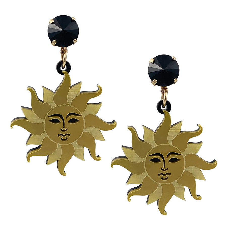 Jennifer Loiselle laser cut acrylic sun earrings