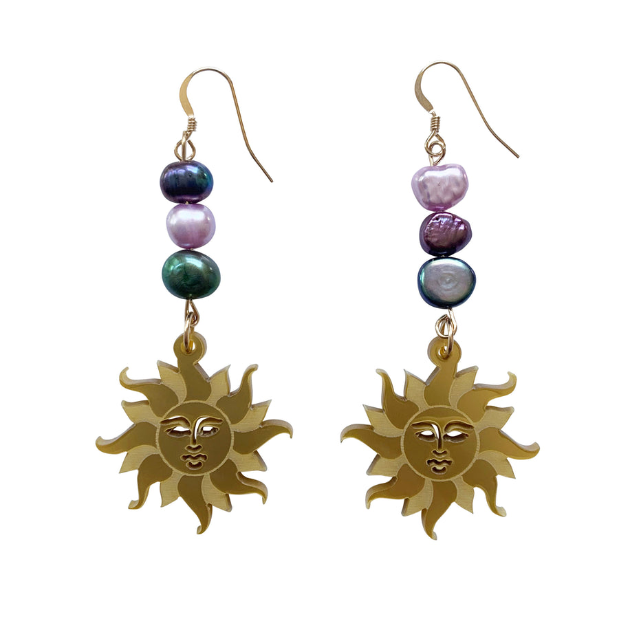 Jennifer Loiselle Eternal Sun Pearl Earrings