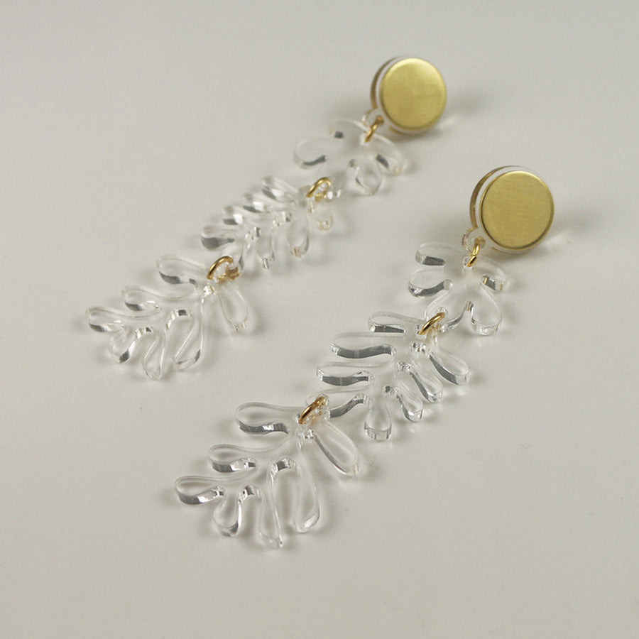 Tendril Earrings in Clear