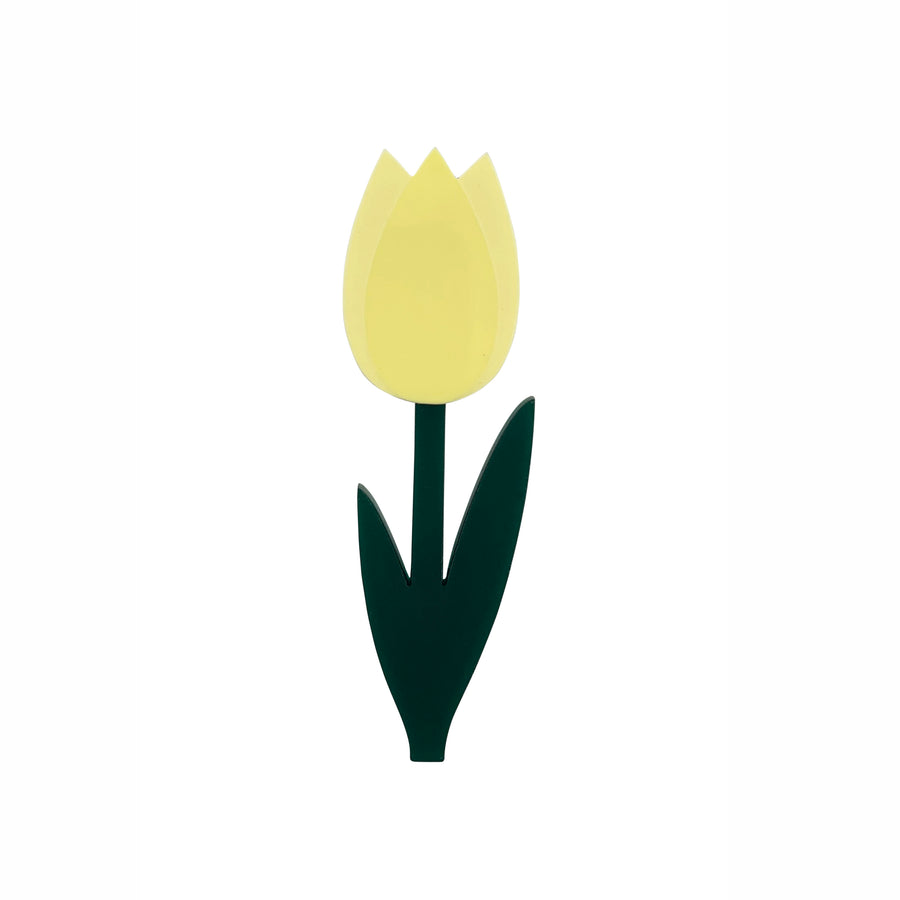 Tulip Brooch in Yellow