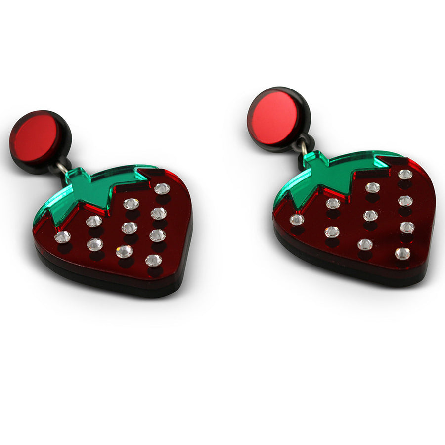 Wild Strawberry Earrings