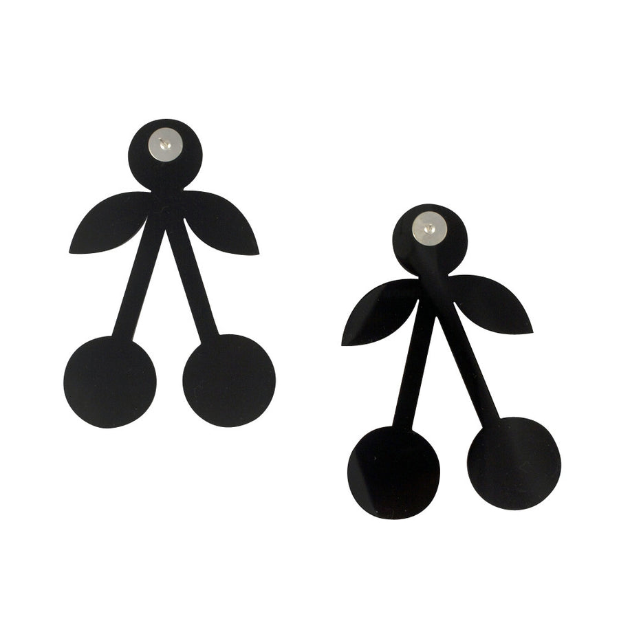 Jennifer Loiselle laser cut acrylic cherry earrings