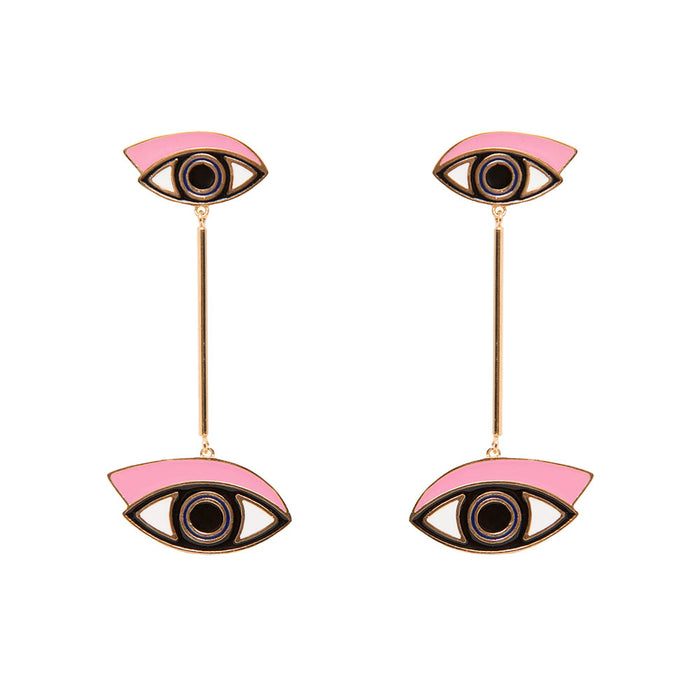 Eye See You Bar Drop Earrings
