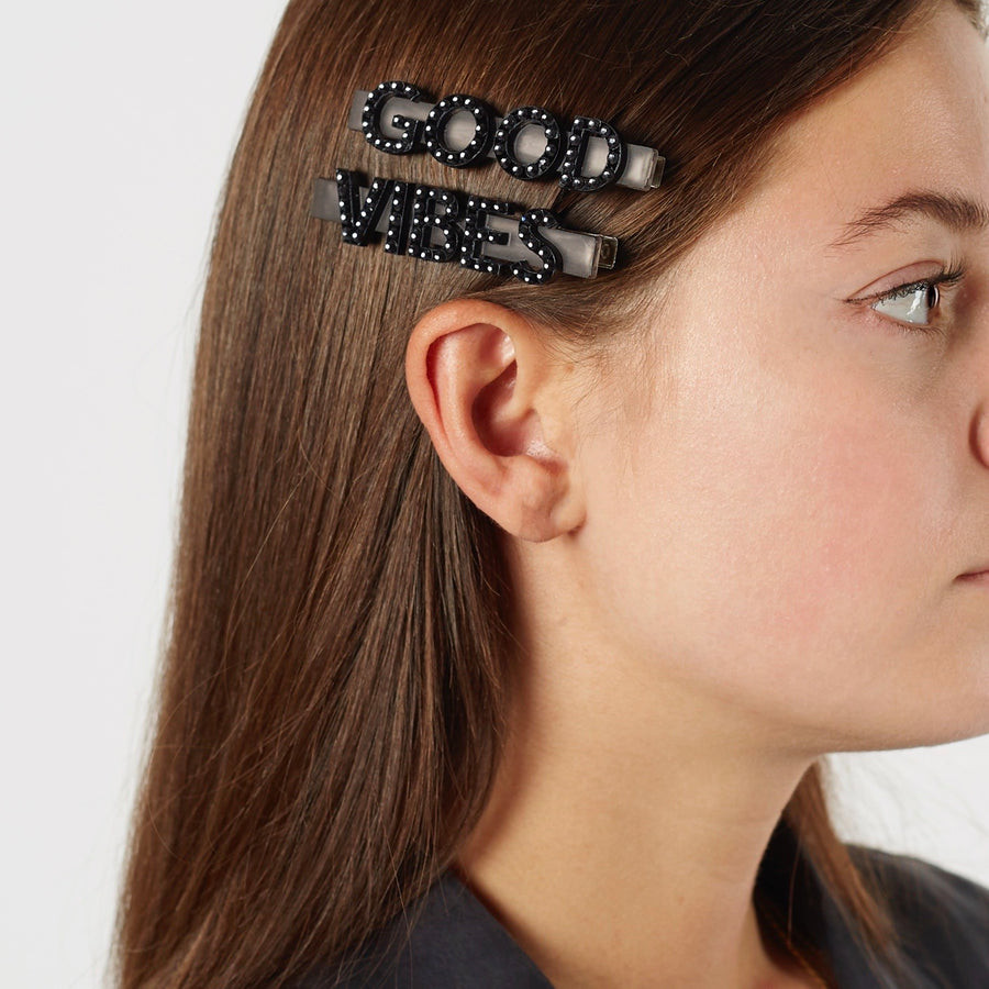 Jennifer Loiselle Good Vibes hair clips