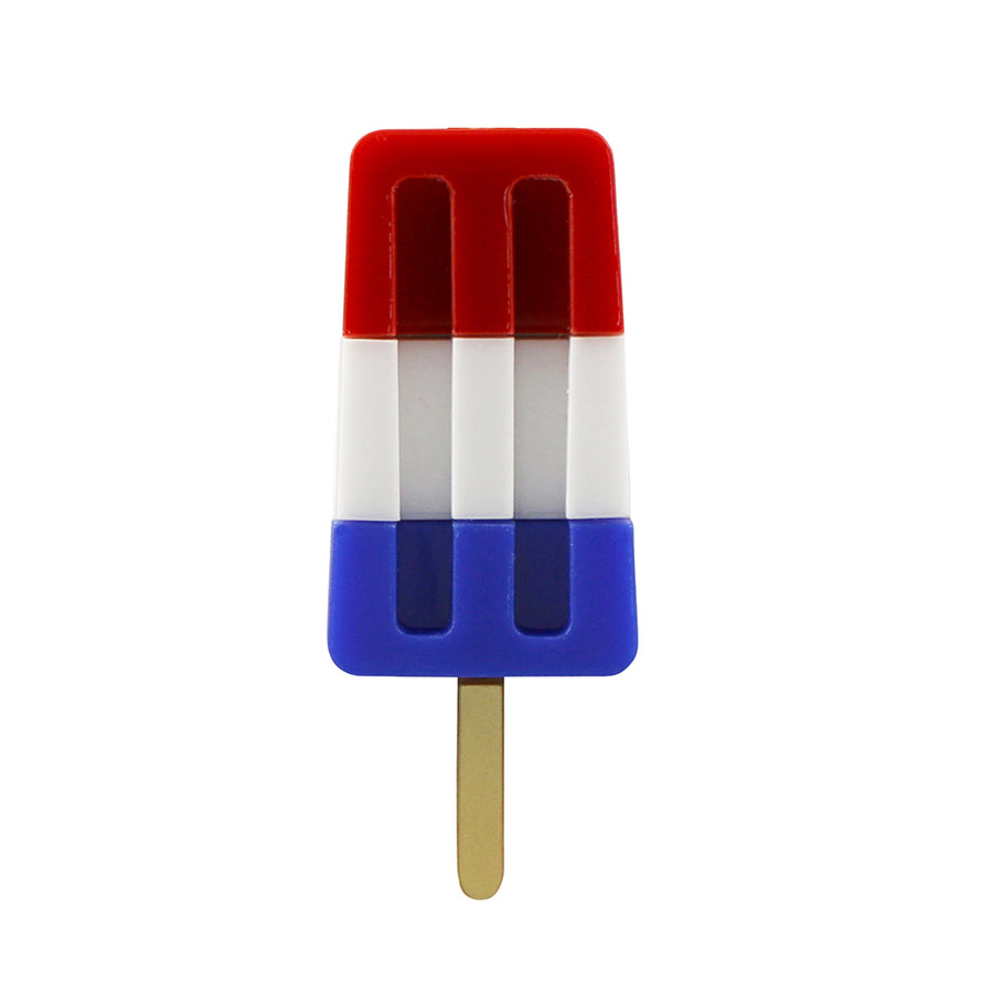 Jennifer Loiselle laser cut acrylic ice lolly statement  brooch