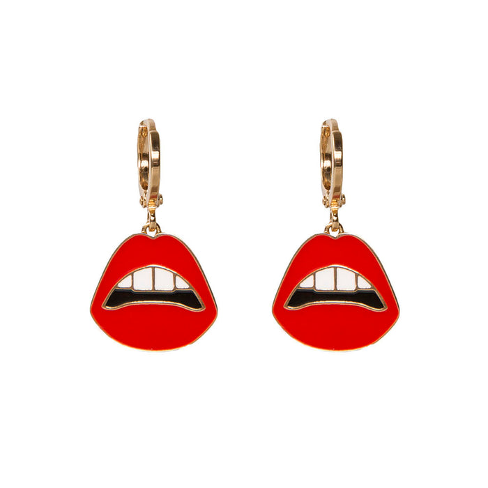 Pucker Up Lips Hoop Earrings