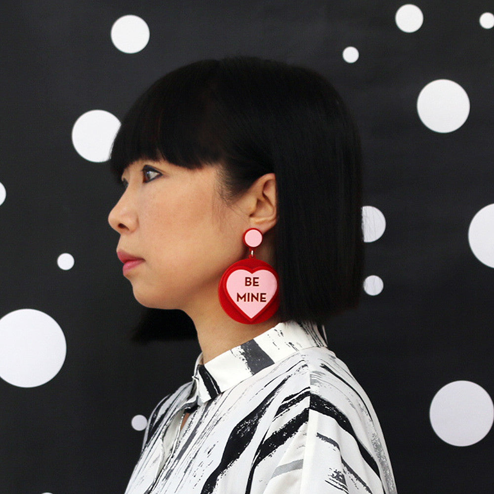 Love Heart Sweet Earrings - Be Mine