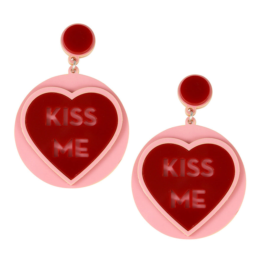 Jennifer Loiselle Kiss Me Laser Cut Acrylic Earrings