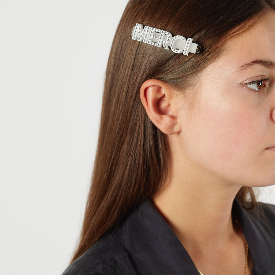 Jennifer Loiselle Merci Swarovski crystal Hair Clips