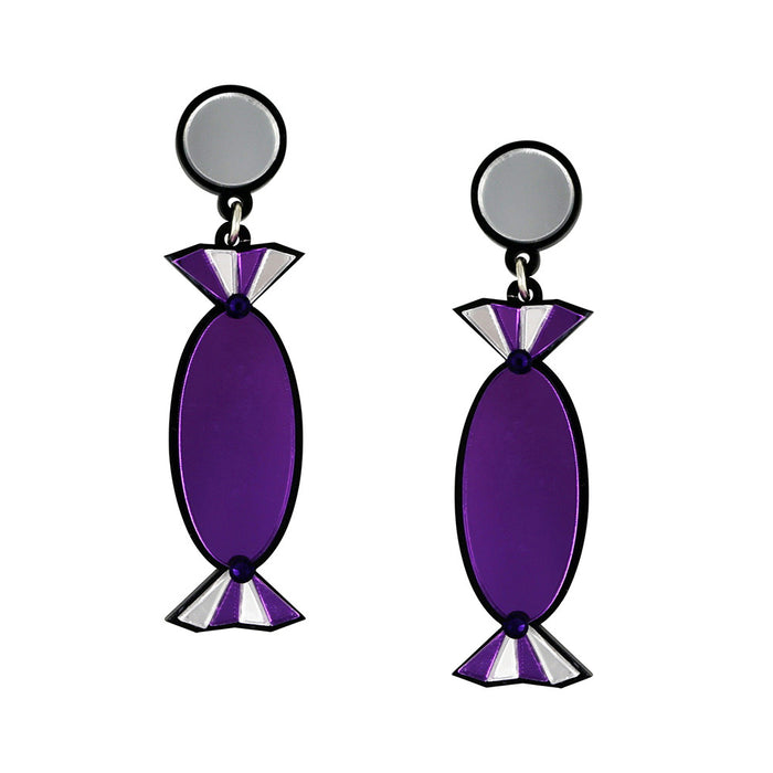 Quality Treat Purple Earrings