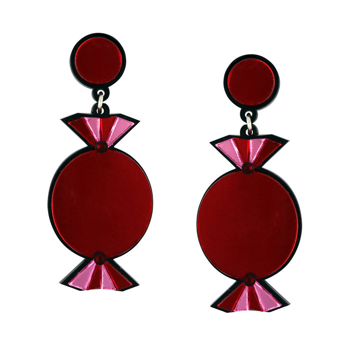 Quality Treat Red Earrings