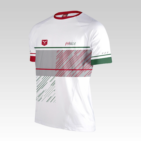 R98 Playera Run Manga Corta Renglan (MEXICO 2018)