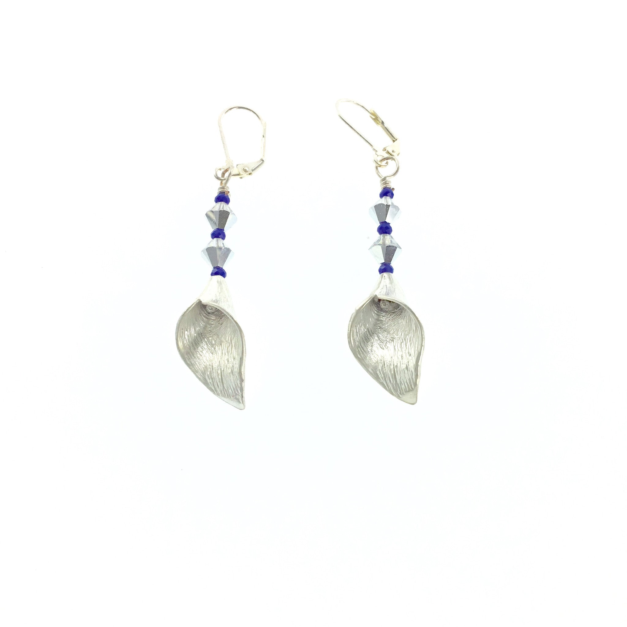 White Swarovski Crystal and Purple Drop Earrings - Real Chic Boutique  - 4