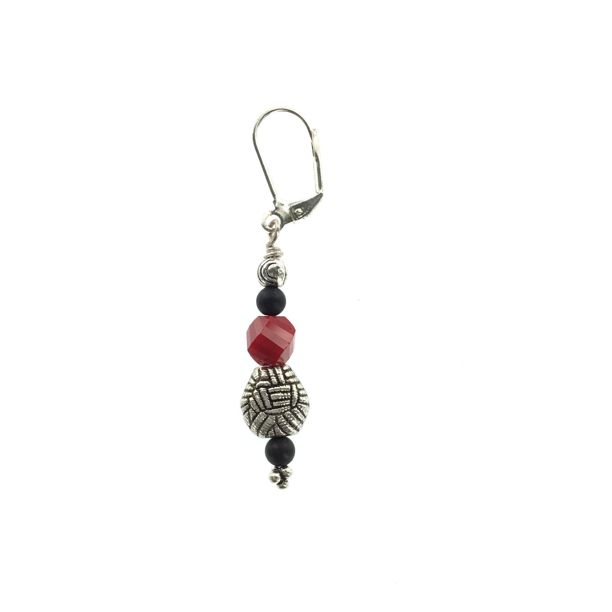 Red and Black Crystal Drop Earring - Real Chic Boutique  - 1