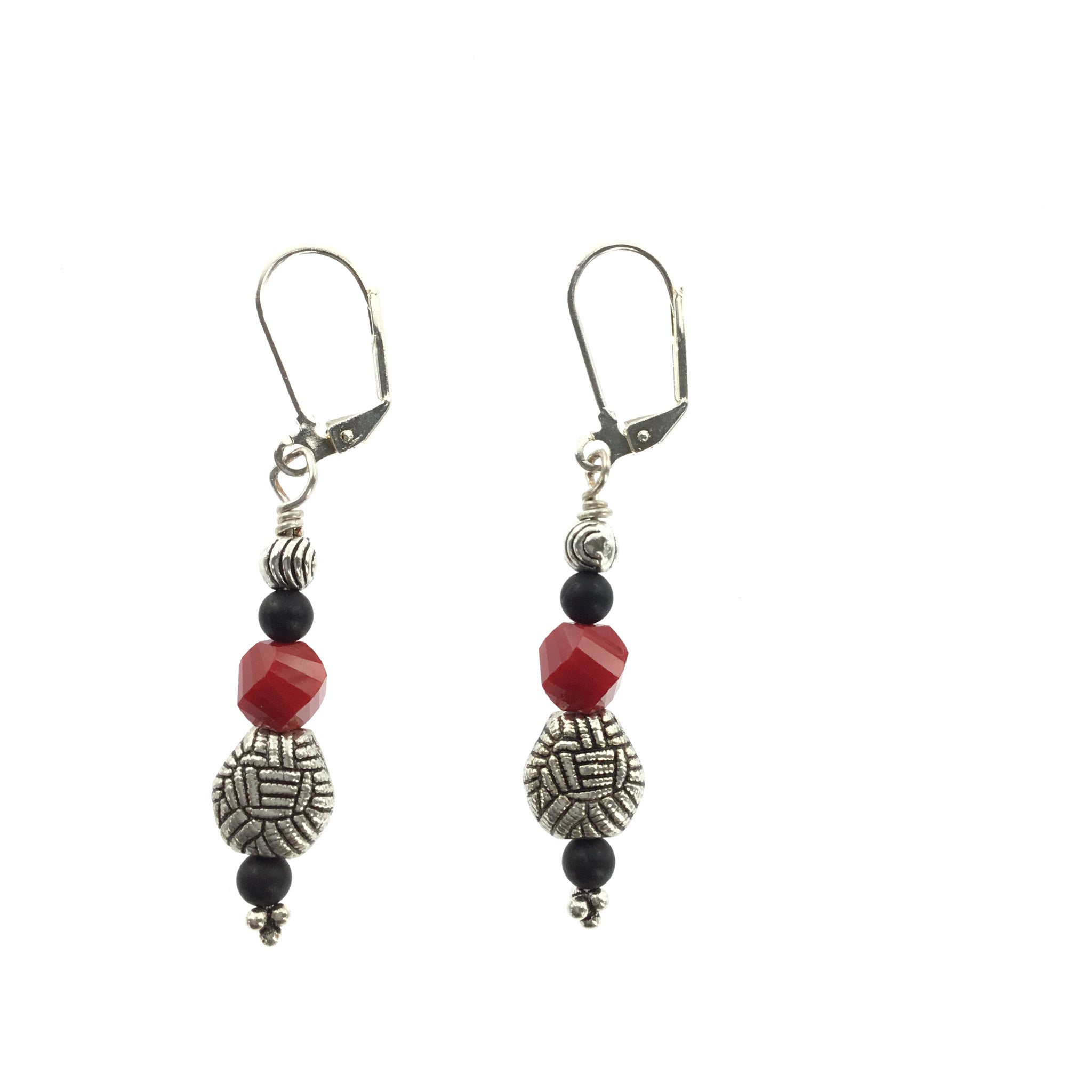 Red and Black Crystal Drop Earring - Real Chic Boutique  - 2