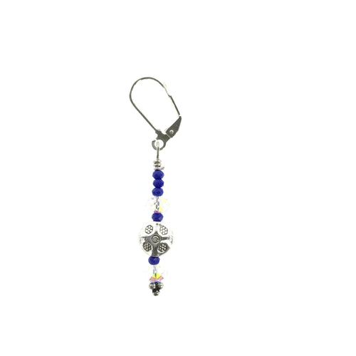 Violet and White Swarovski Drop Earring - Real Chic Boutique  - 1