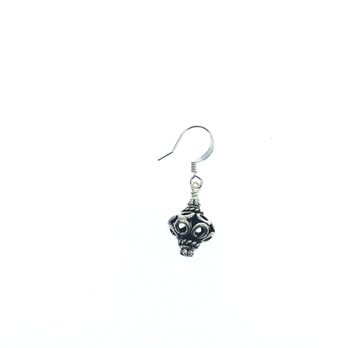 Antique Sterling Silver Drop Earring