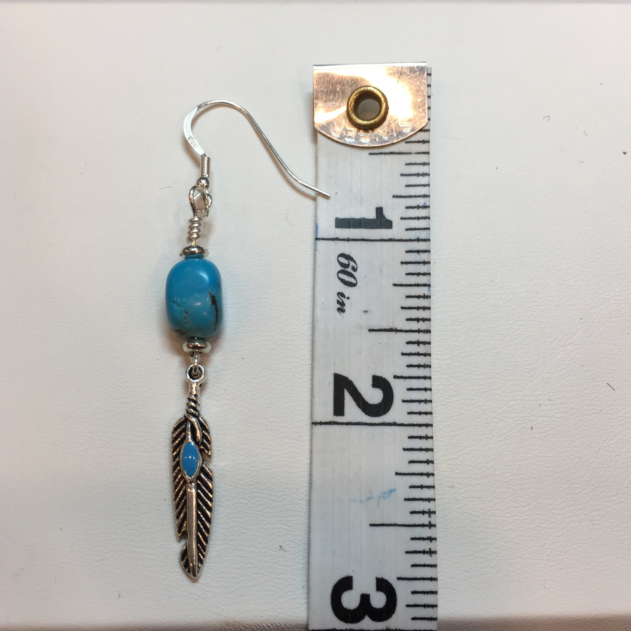Turquoise and Silver Drop Earring - Real Chic Boutique  - 4