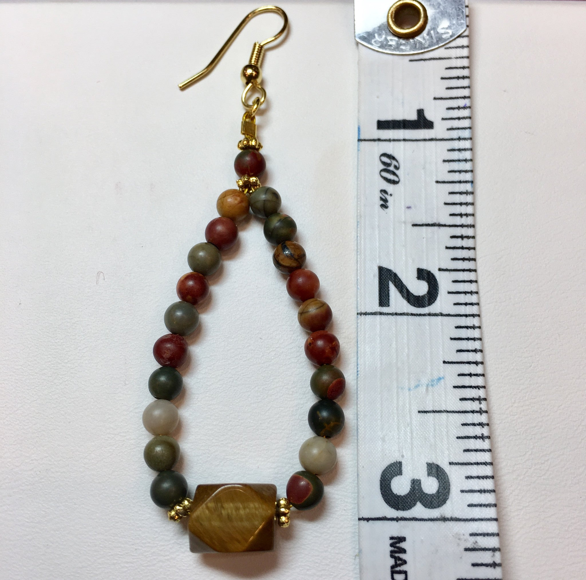 Red Jasper and Jasper Drop Earring - Real Chic Boutique  - 4