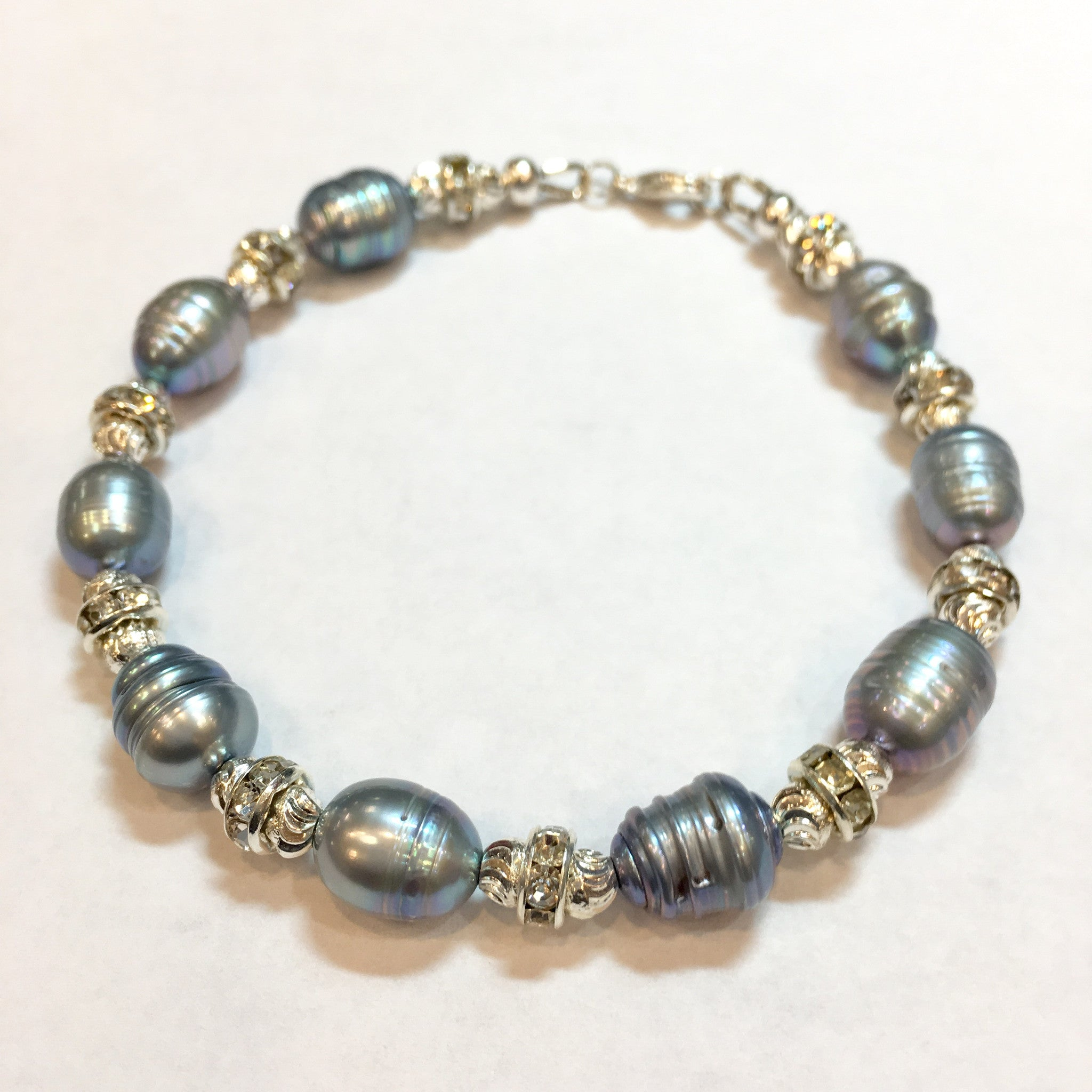 Fresh Water Pearl and Swarovski Bracelet - Real Chic Boutique  - 2