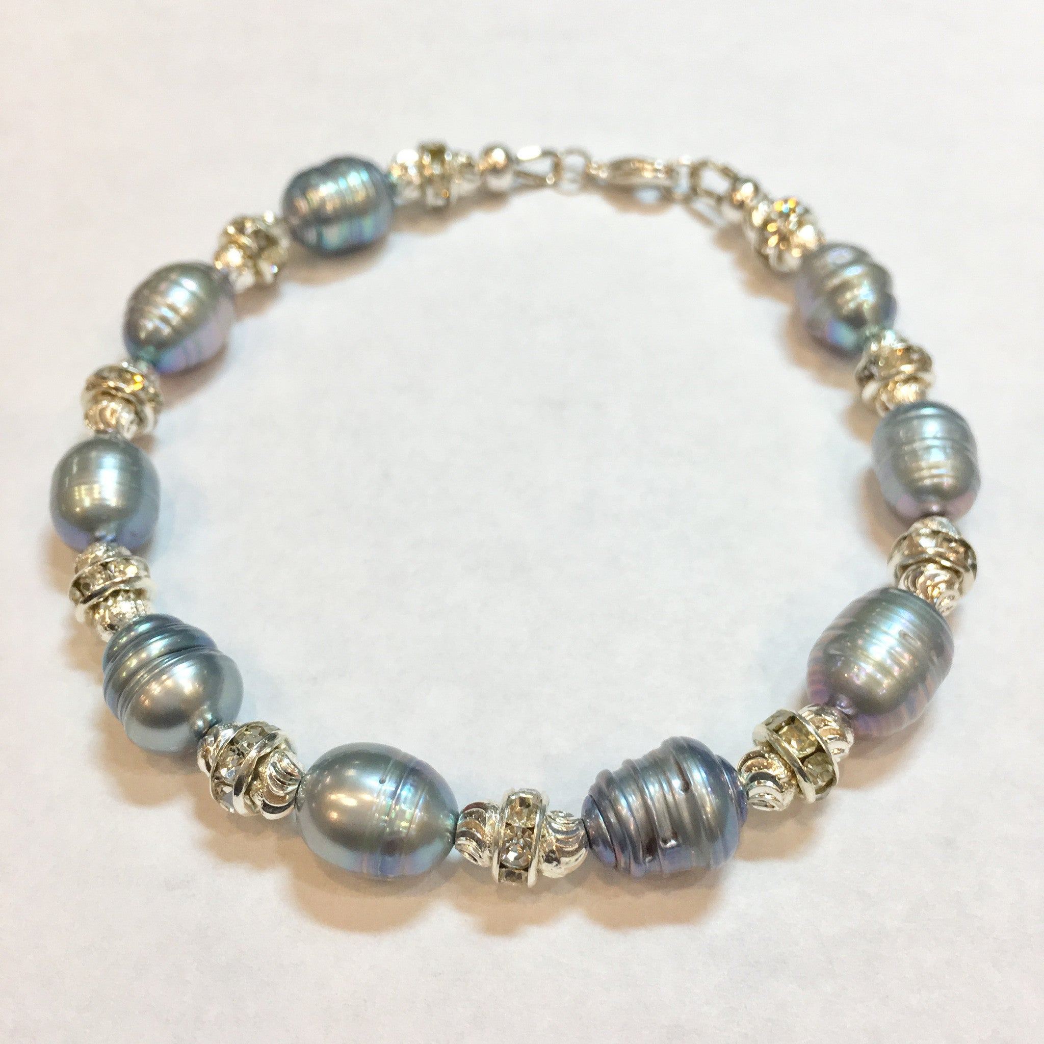 Fresh Water Pearl and Swarovski Bracelet - Real Chic Boutique  - 3